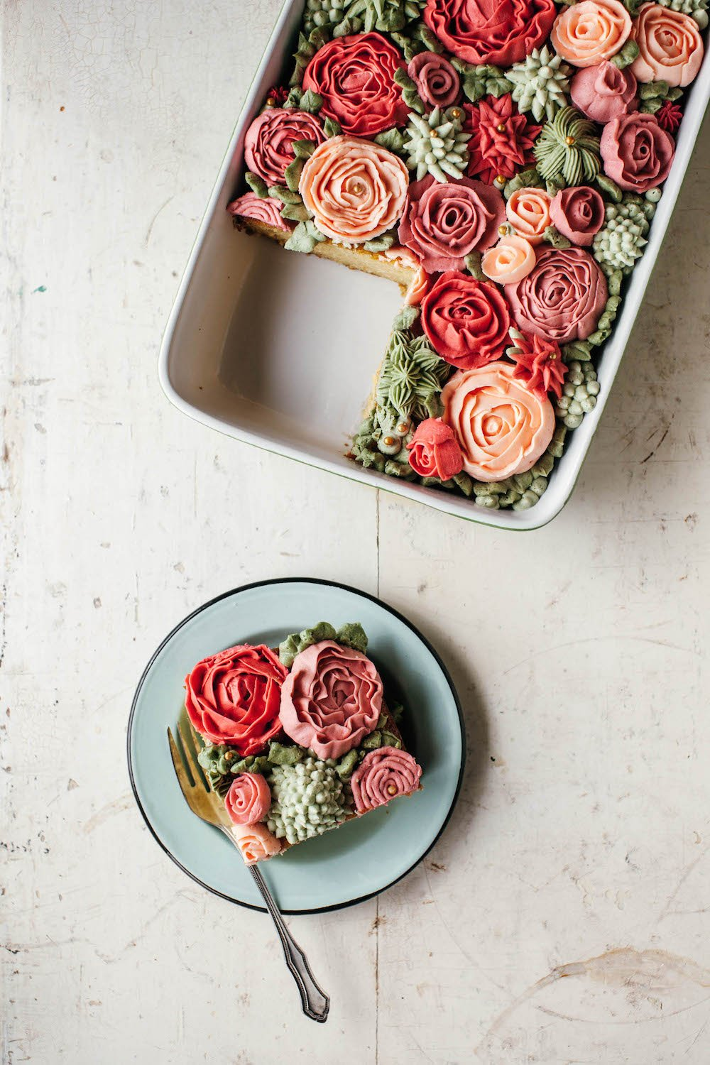rose cake by molly yeh
