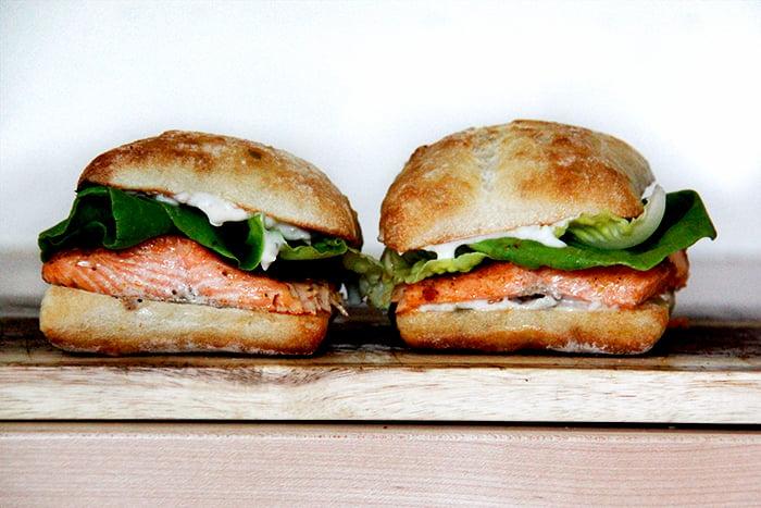 10-Minute Salmon Sandwich