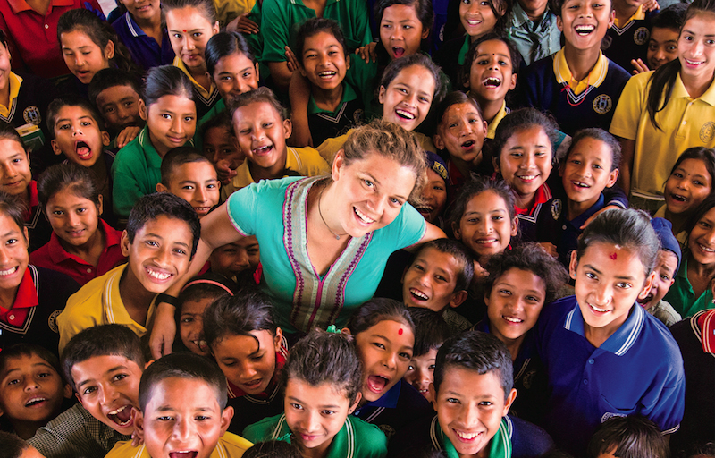 Maggie Doyne and her family in Nepal