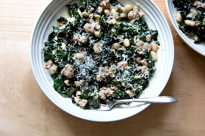 The Easiest Dinner With Kale Sausage And Beans A Cup Of Jo