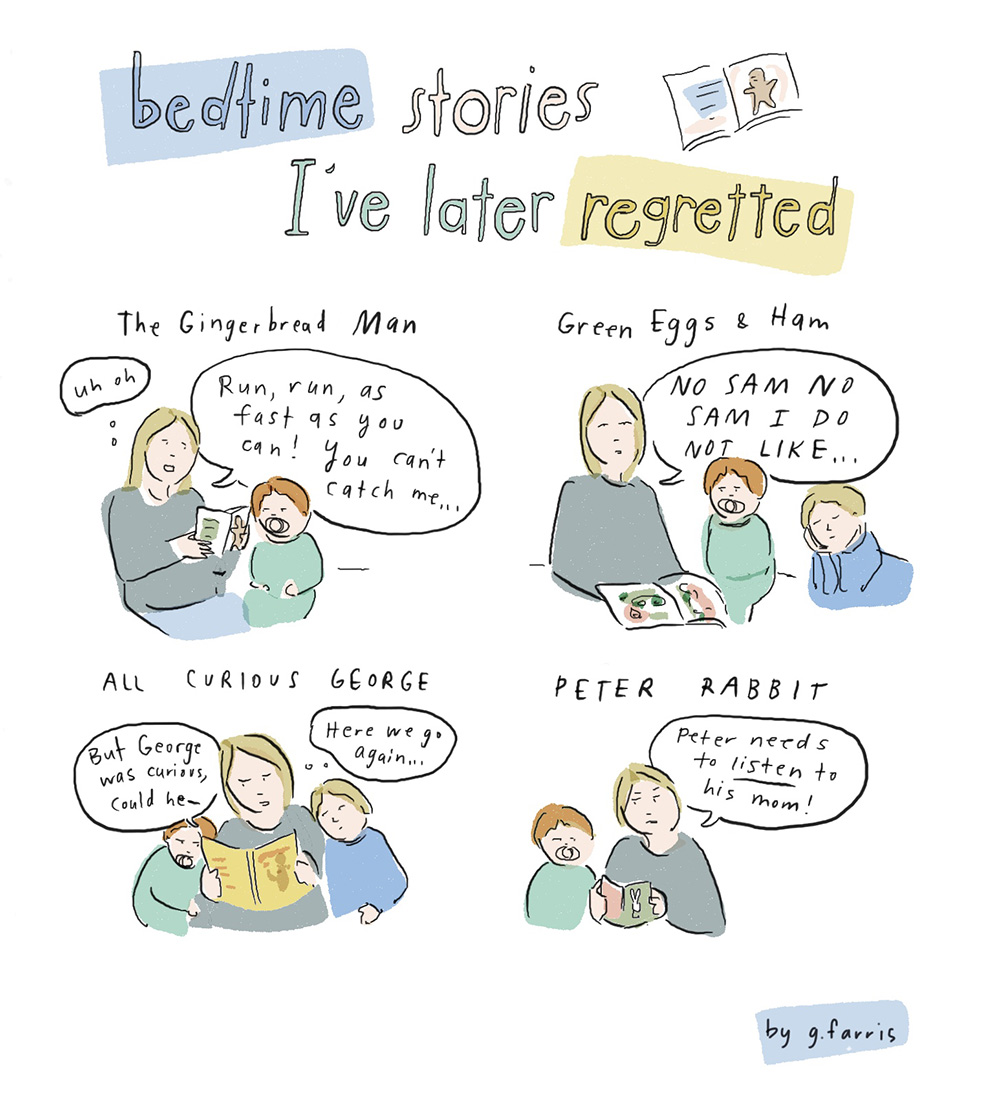 grace farris bedtime stories comic