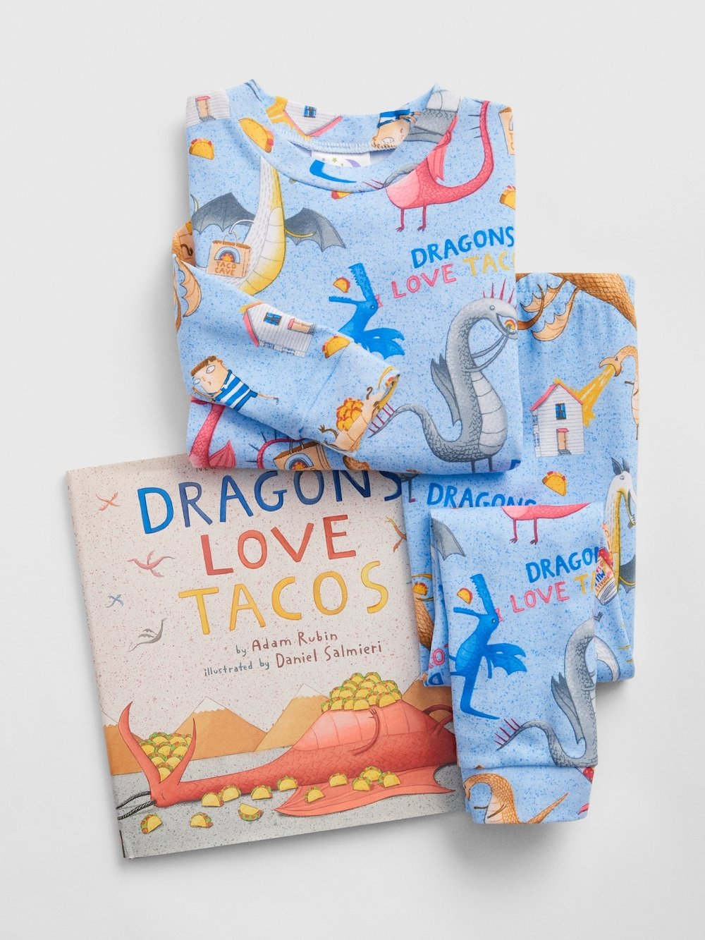 Dragons Love Tacos pajamas