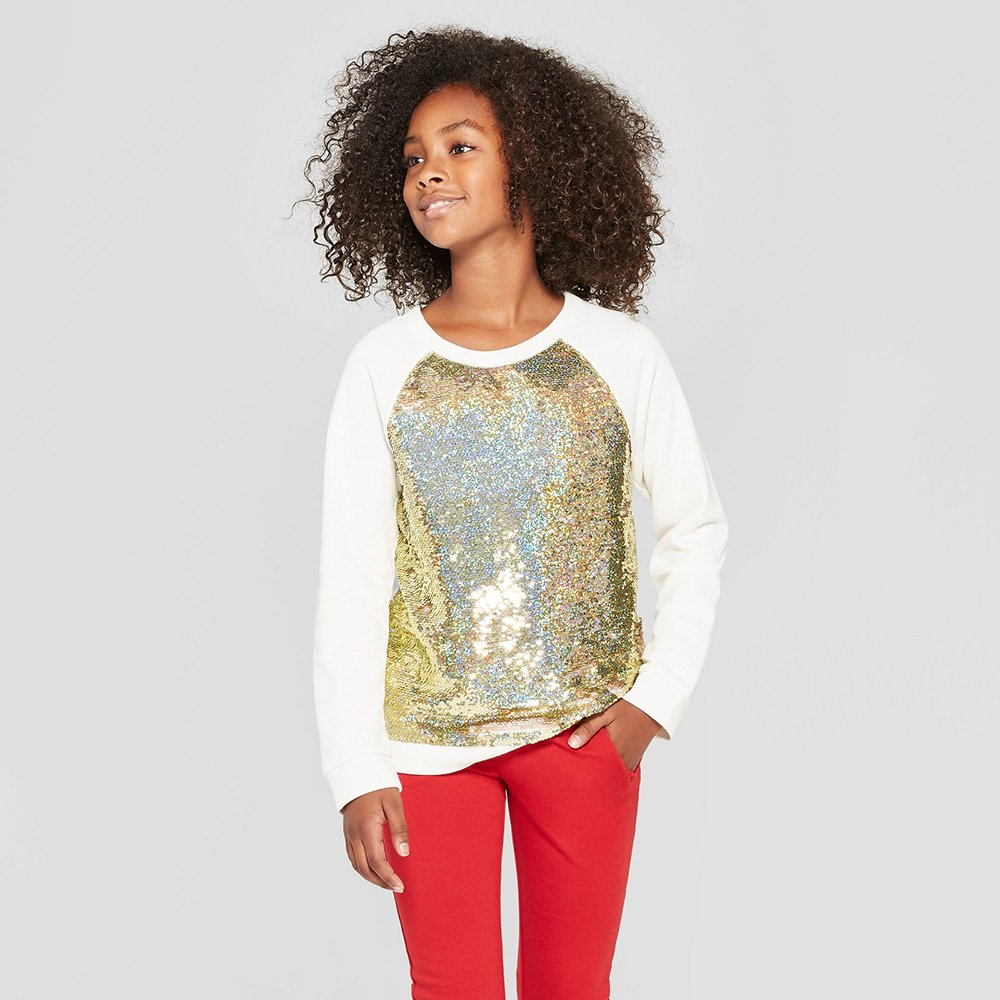 flip sequin shirt