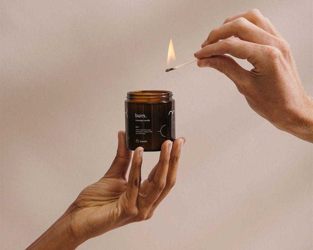 massage candle by get maude