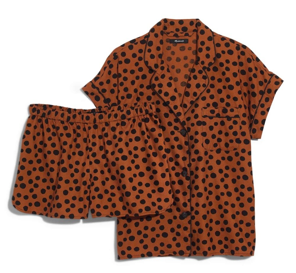 leopard dot pajamas