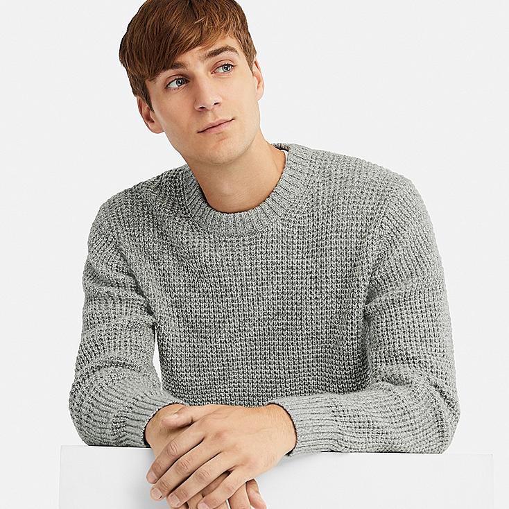 uniqlo waffle sweater