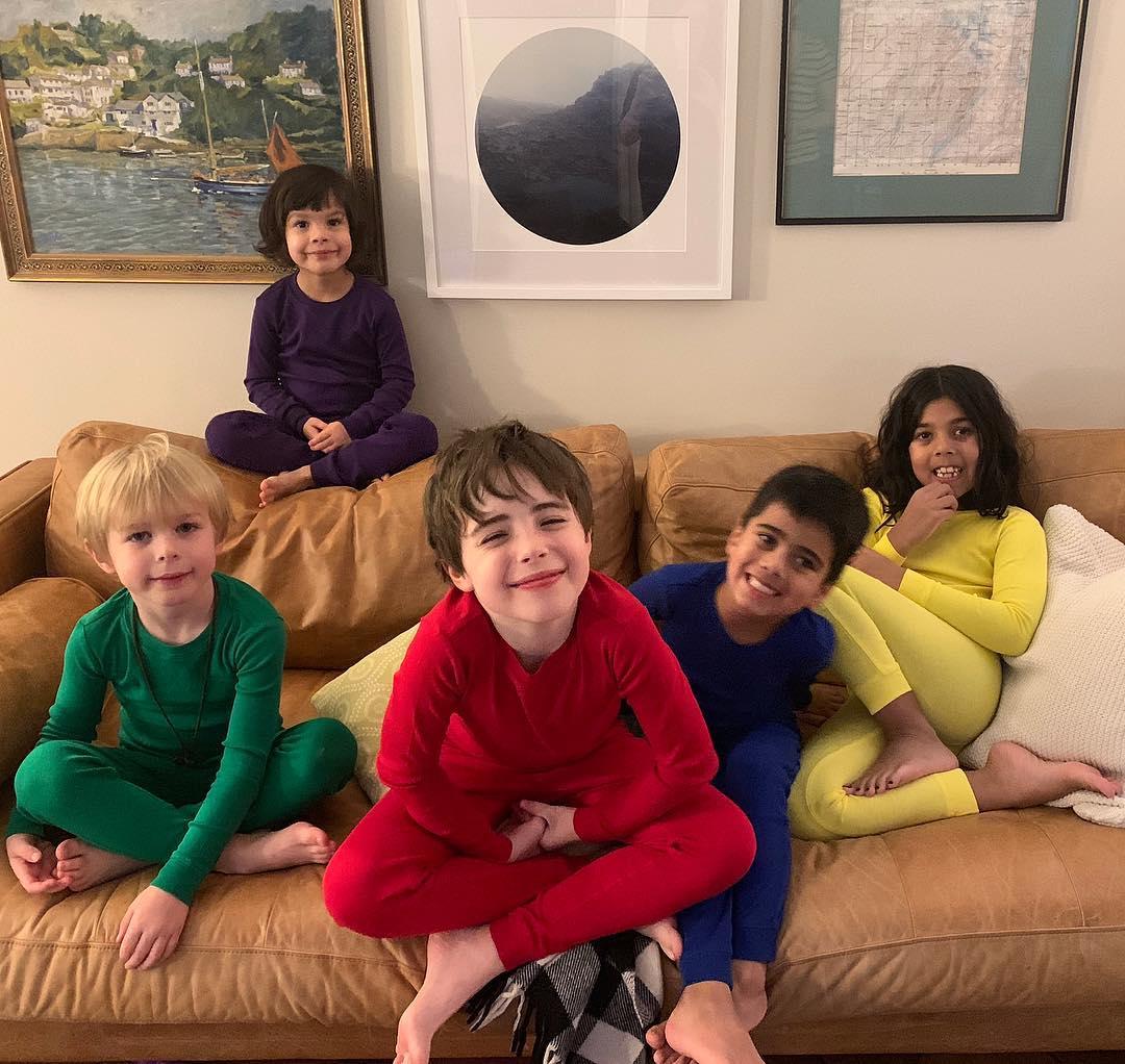 cousins in pajamas