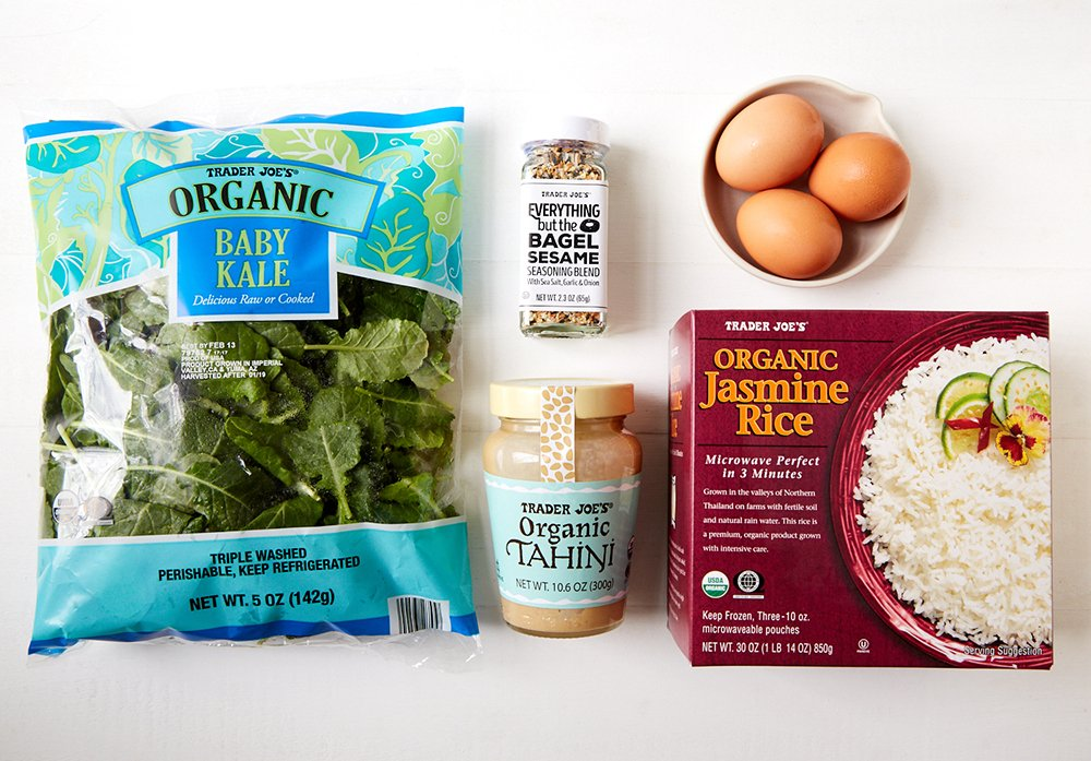 Trader Joe's tahini grain bowl