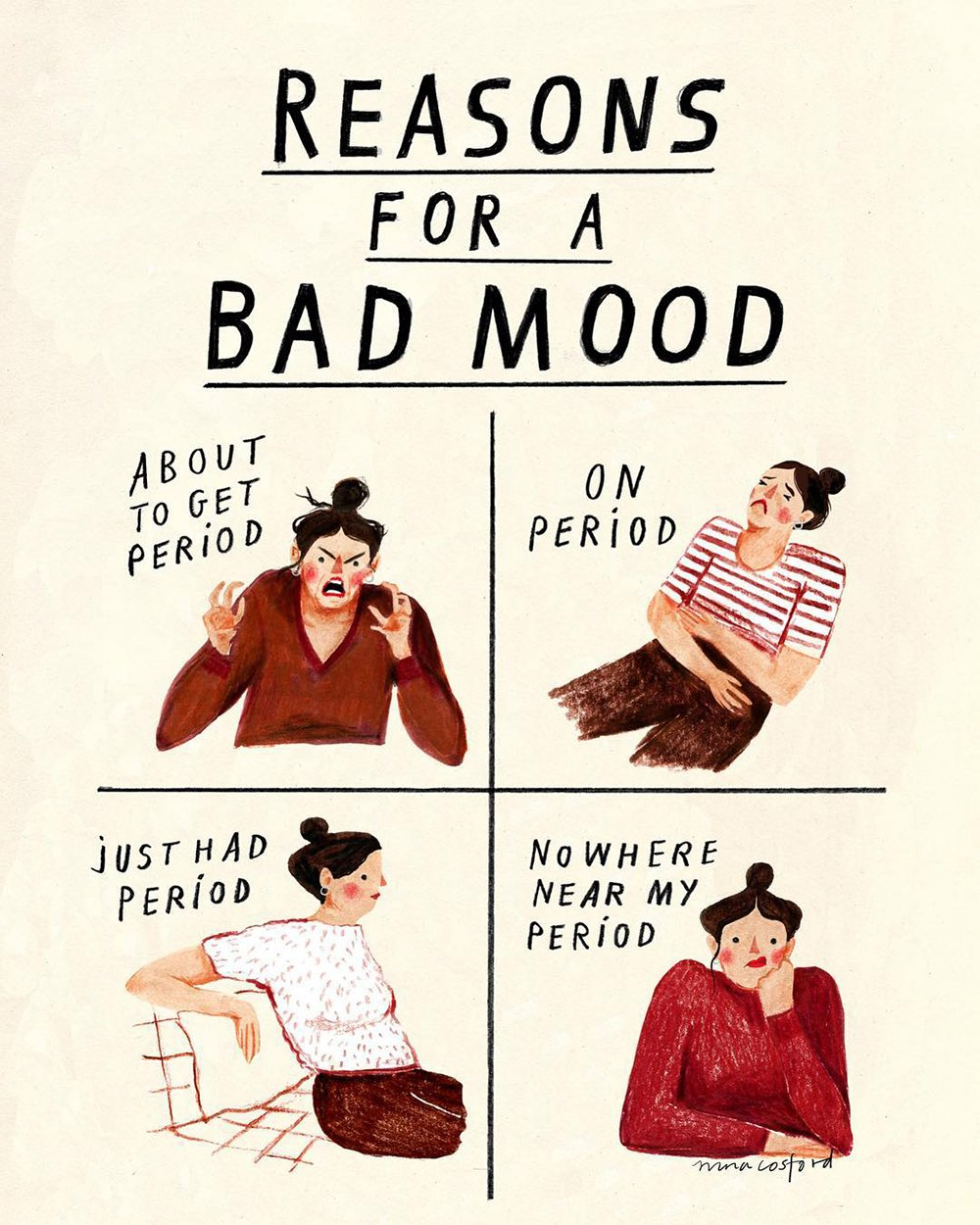 Bad Mood Comic Nina Cosford