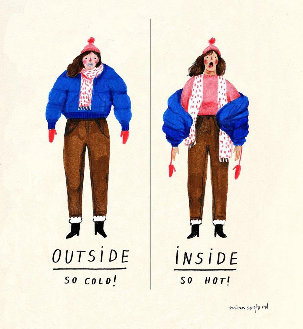 Nina Cosford Winter Comic