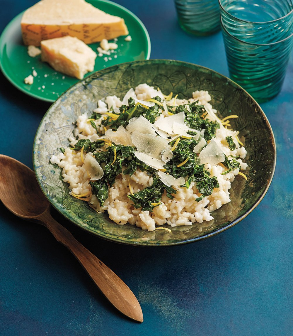 Cooking Solo Lemony Kale Risotto