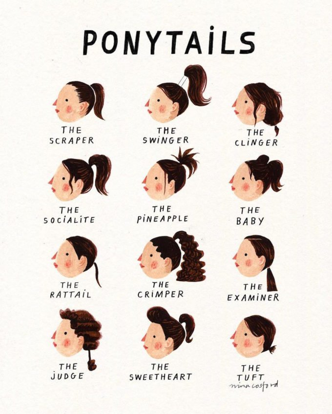 Types of Ponytails