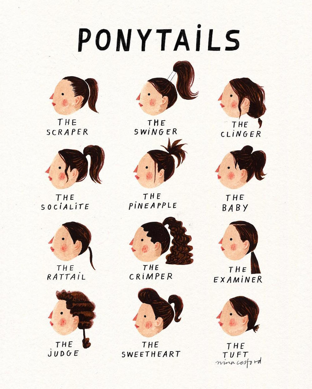 Which Ponytail Are You? A Cup of Jo