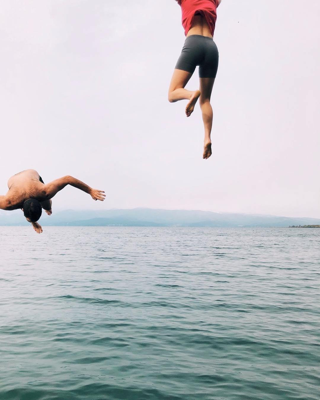 Lake jumping by Hailey Wist