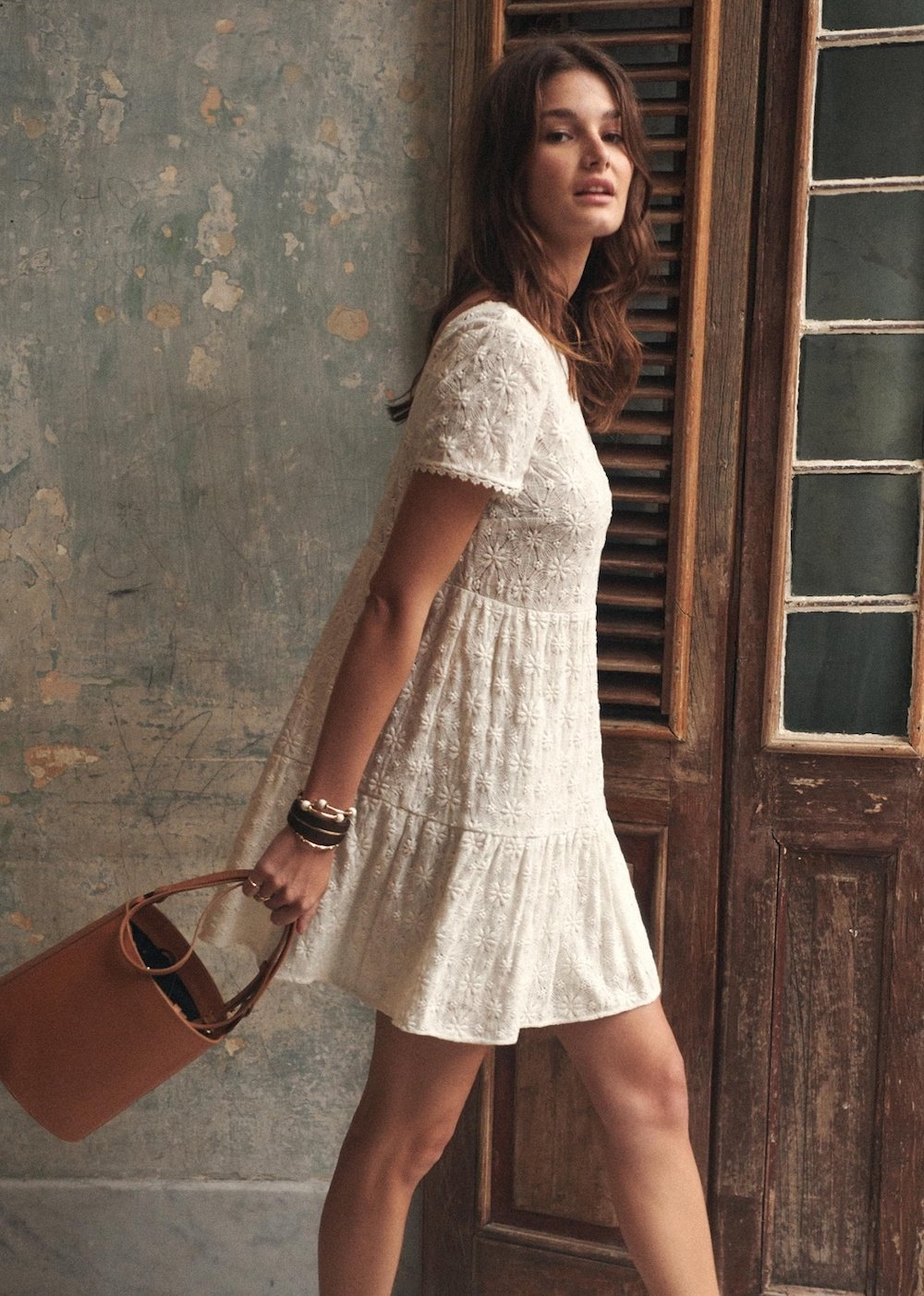 Sezane white dress