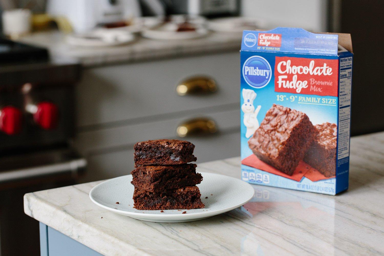 How to make pillsbury chocolate fudge brownies better
