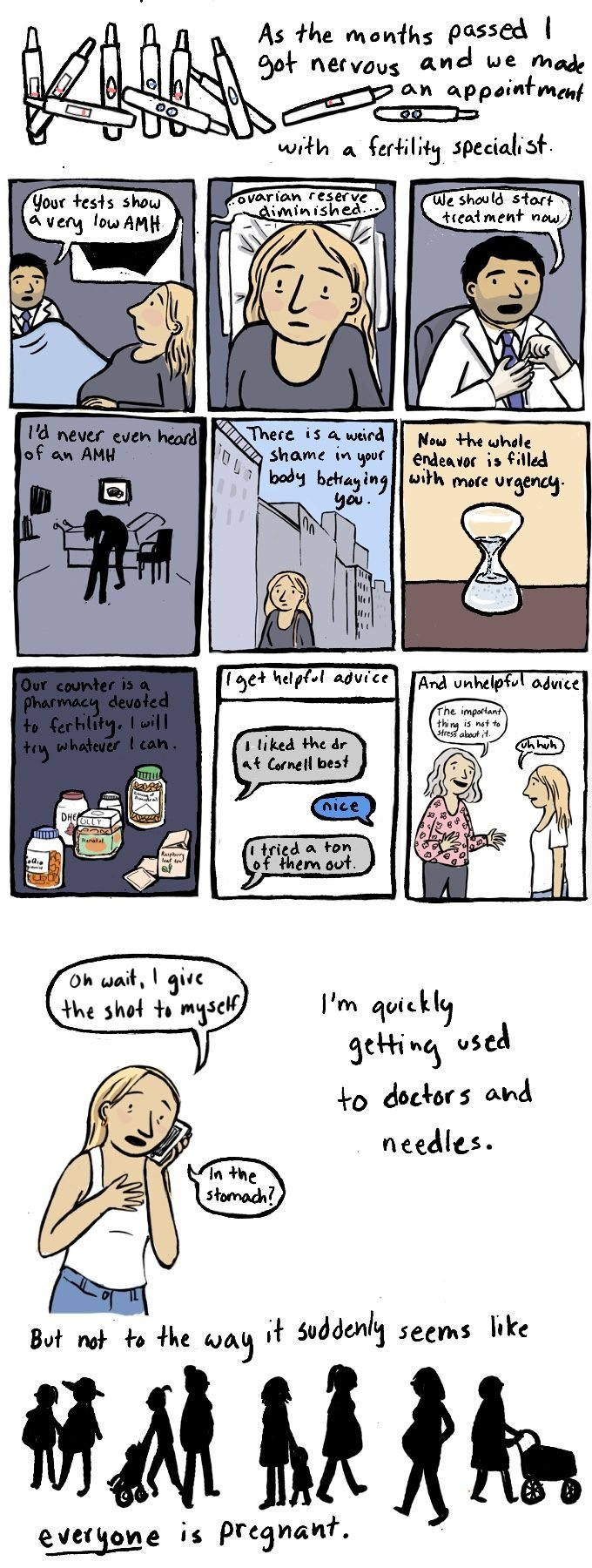 Infertility comic by Jessica Olien
