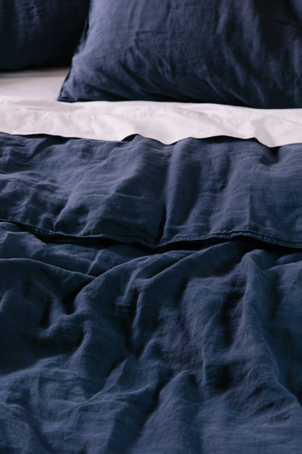 Best Indigo Linen Bedding by Brooklinen
