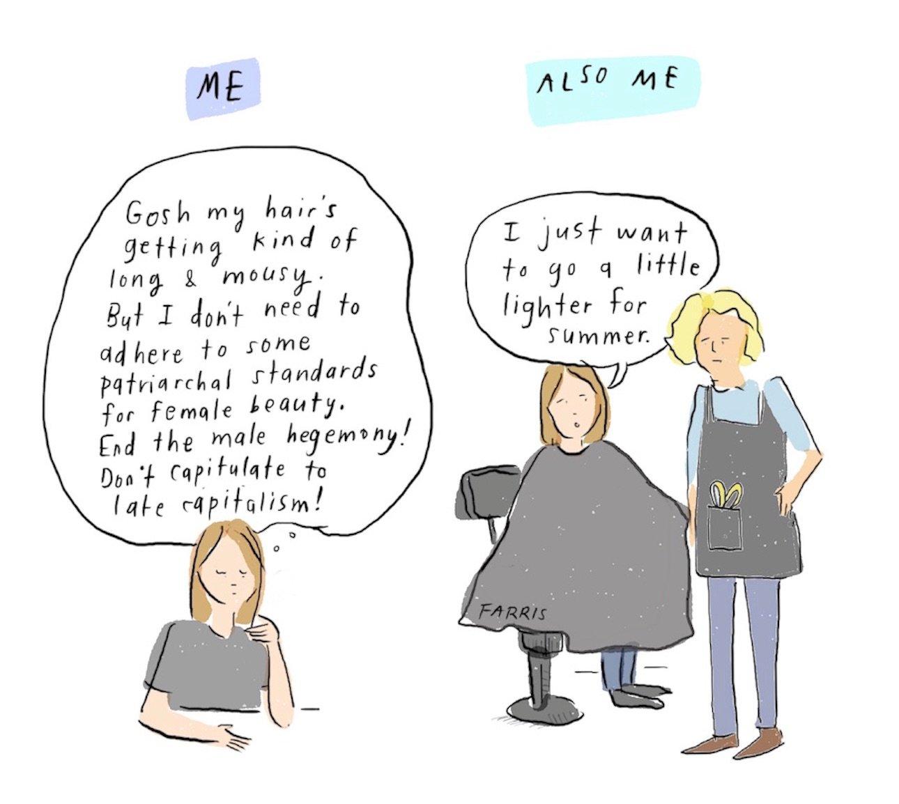 Haircut comic by Grace Farris