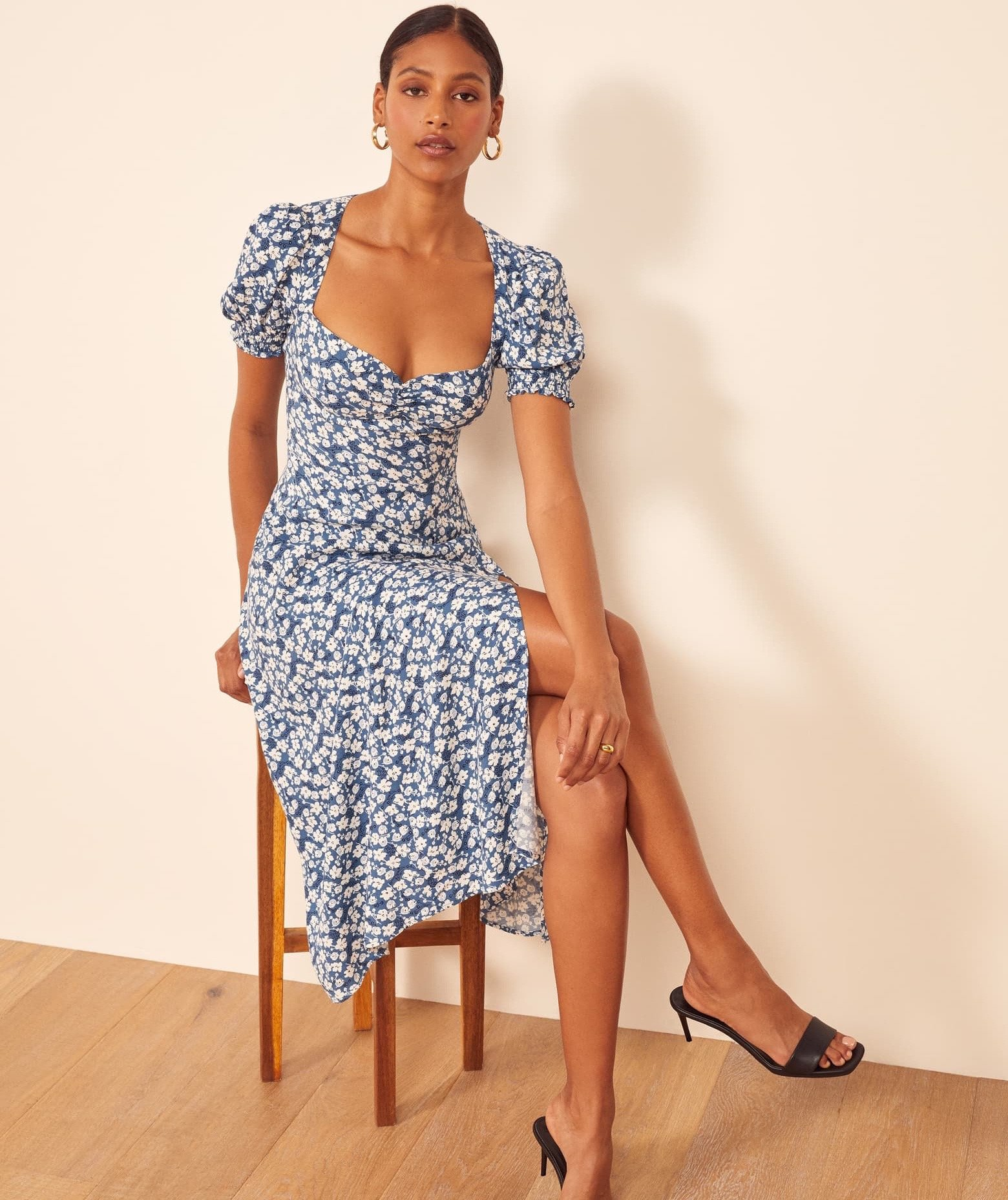 Square Neck Dress From Reformation