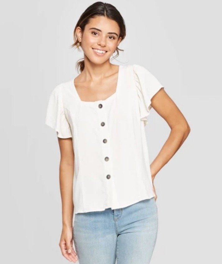 Square-Neck Top from Target
