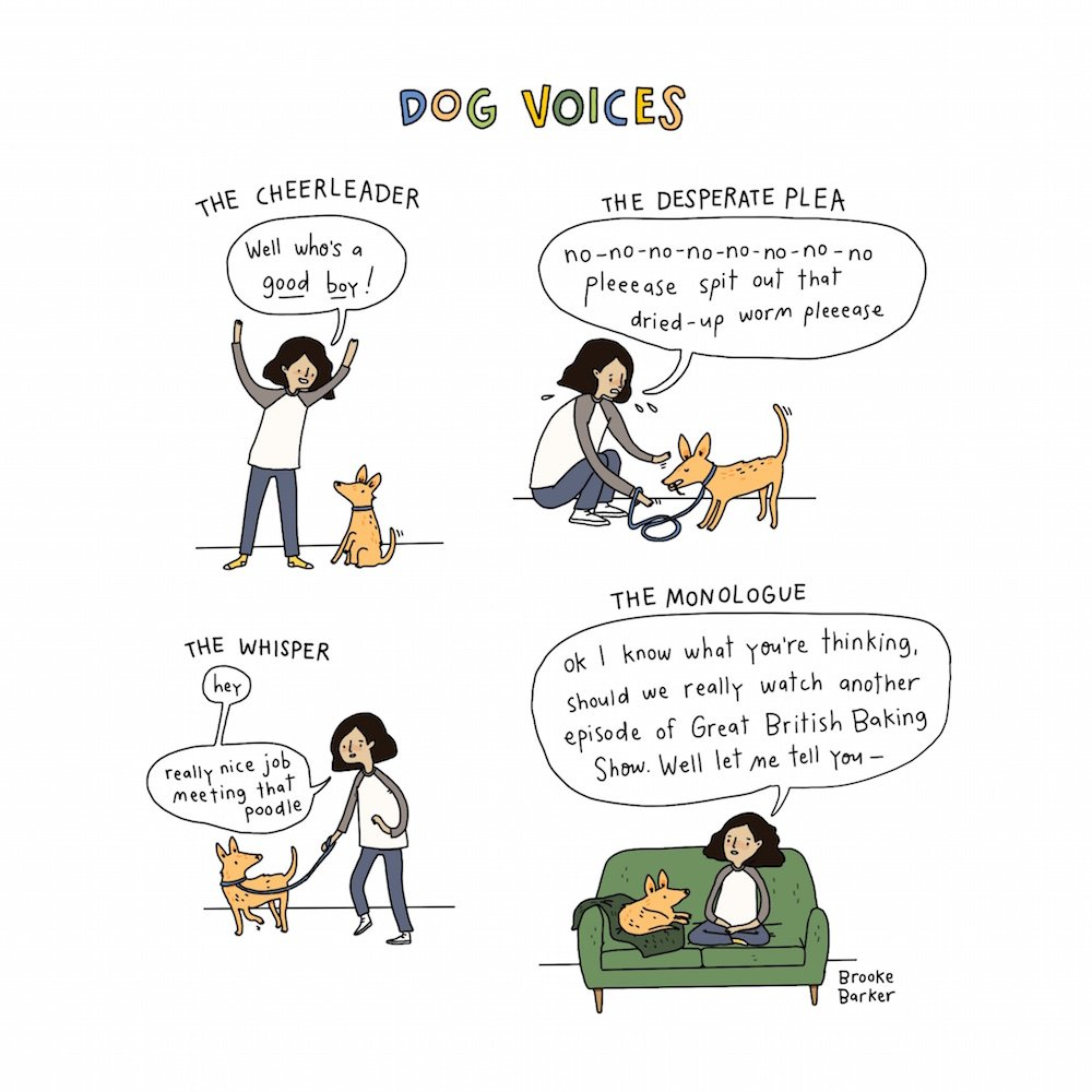 Dog comic by Brooke Barker