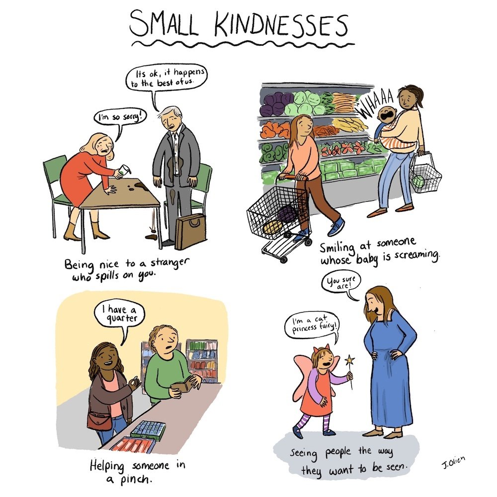 Small Kindnesses comic by Jessica Olien