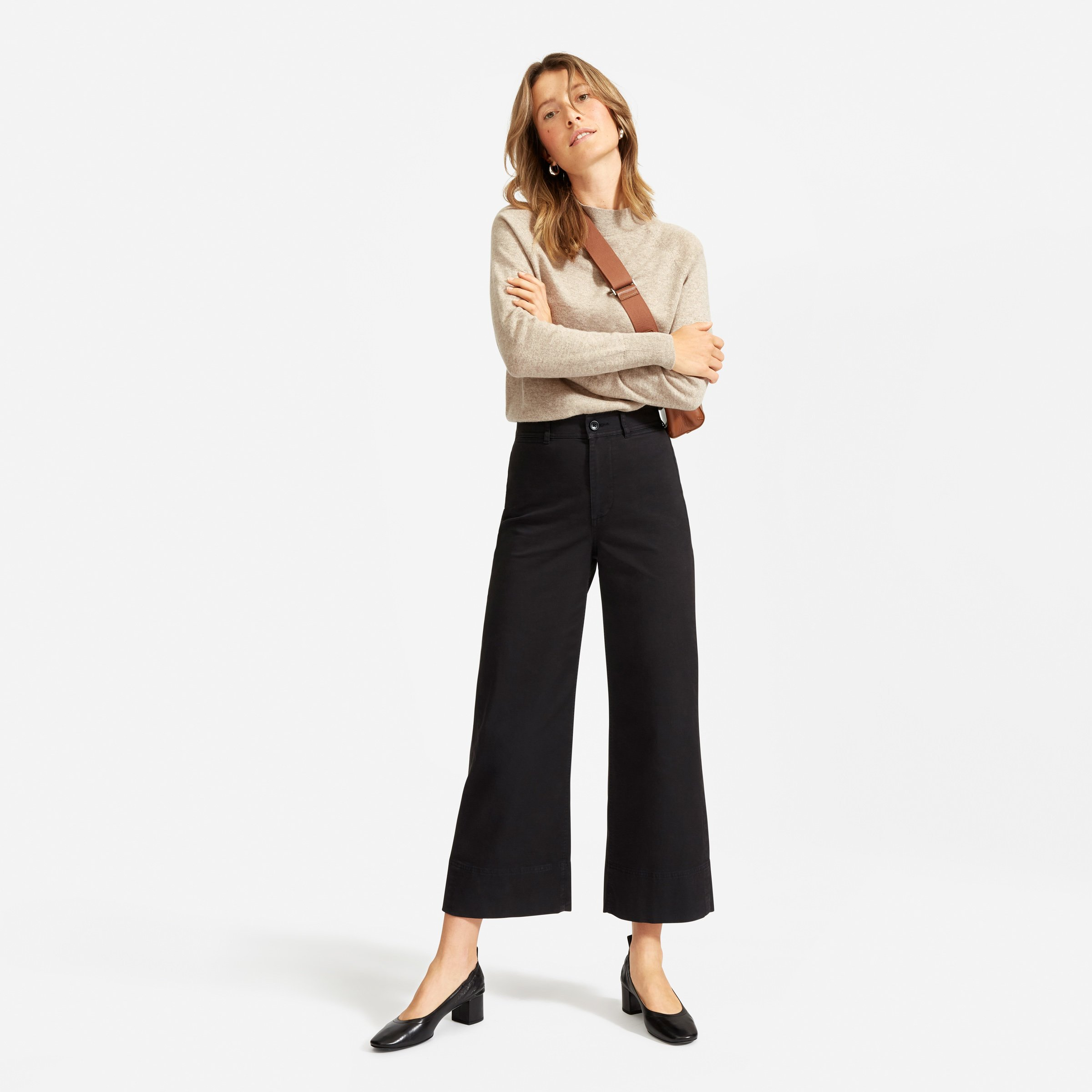everlane mockneck sweater