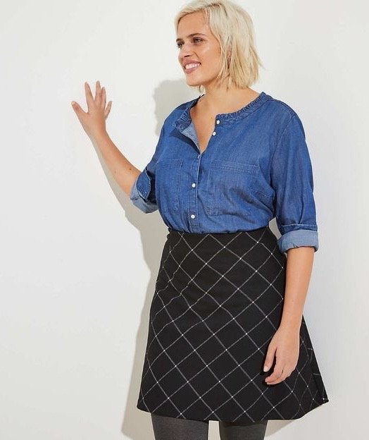 Plaid Skirt from Loft