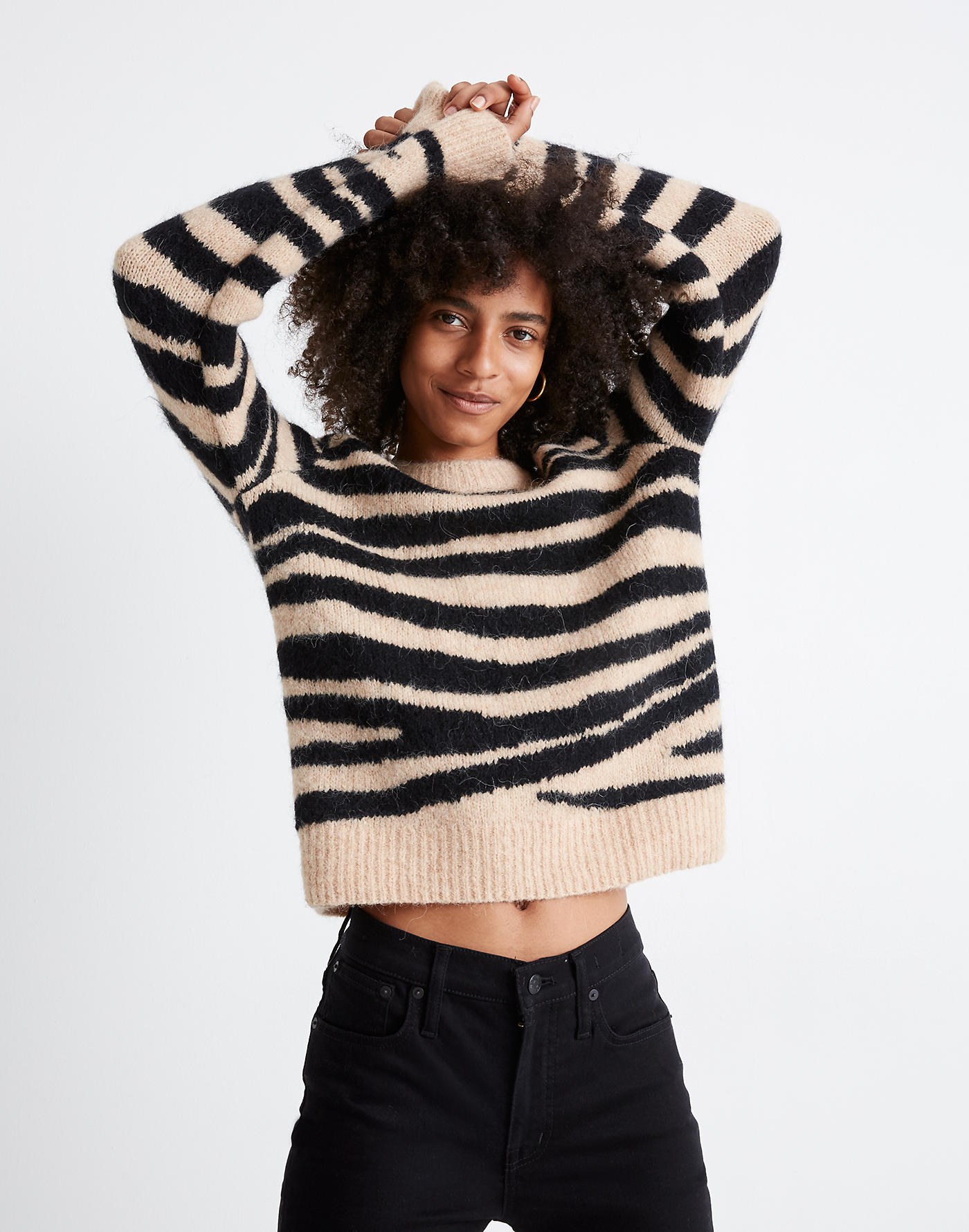 Madewell animal print sweater