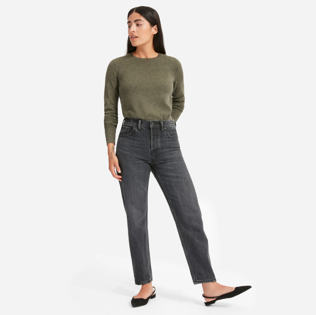 Everlane moss green sweater