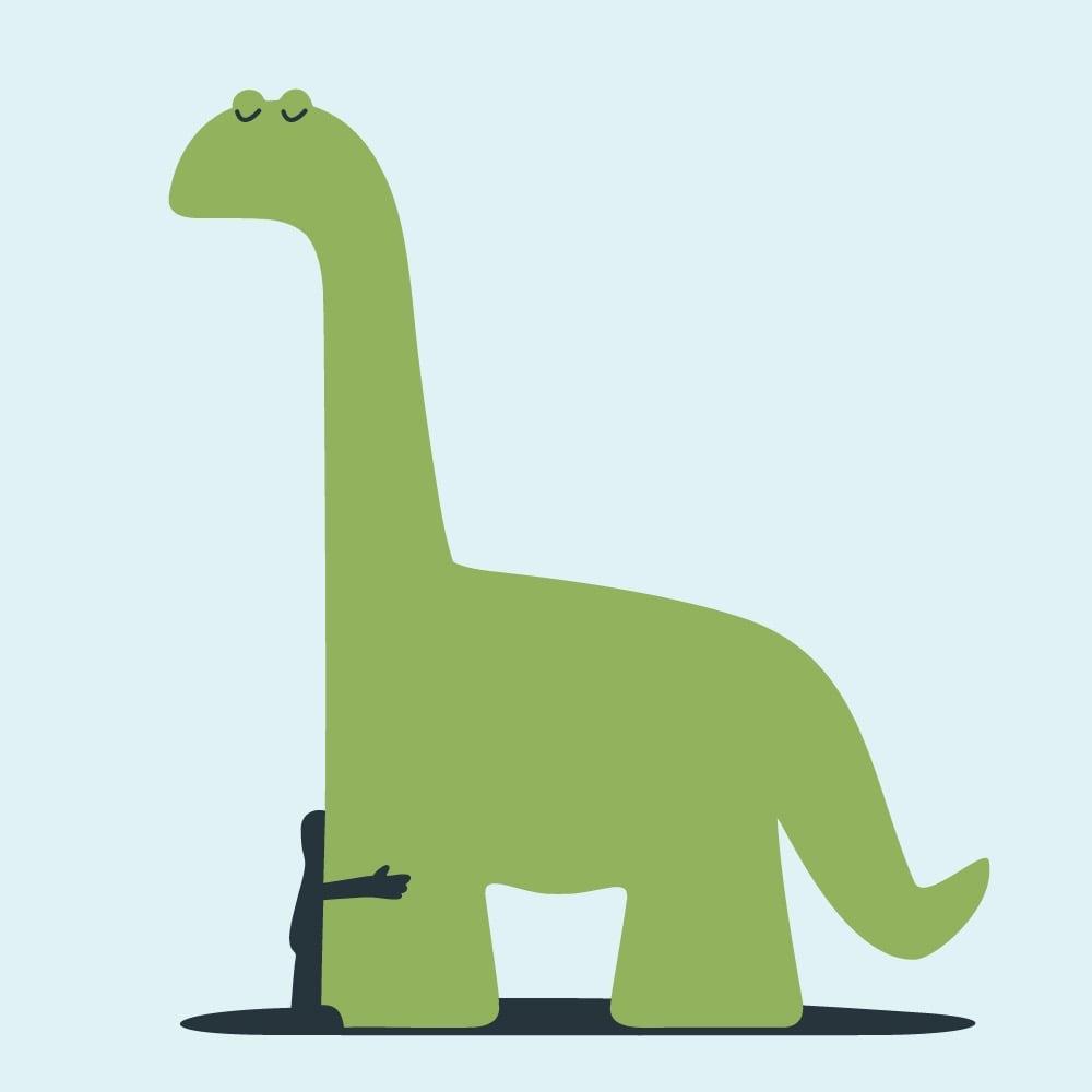 Dinosaur friends print by Christopher David Ryan