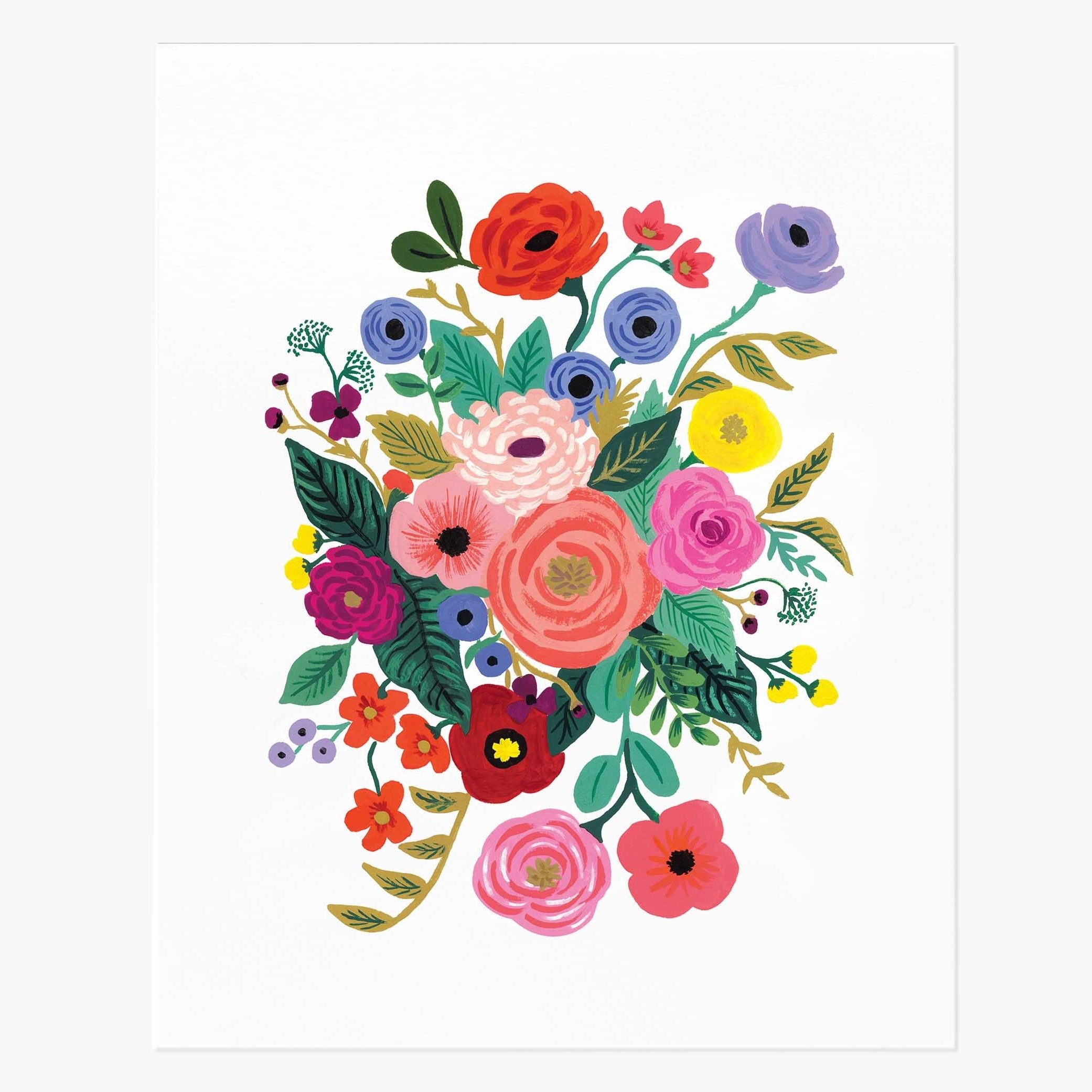 Flowers art print by Rifle Design
