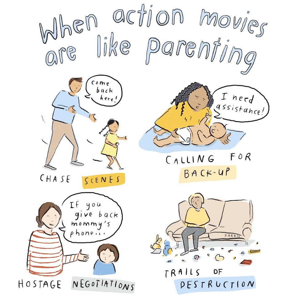 When the action of the movie is like the parents
