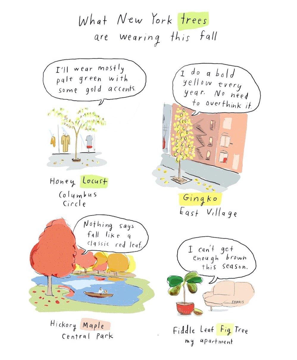 Tree comic by Grace Farris