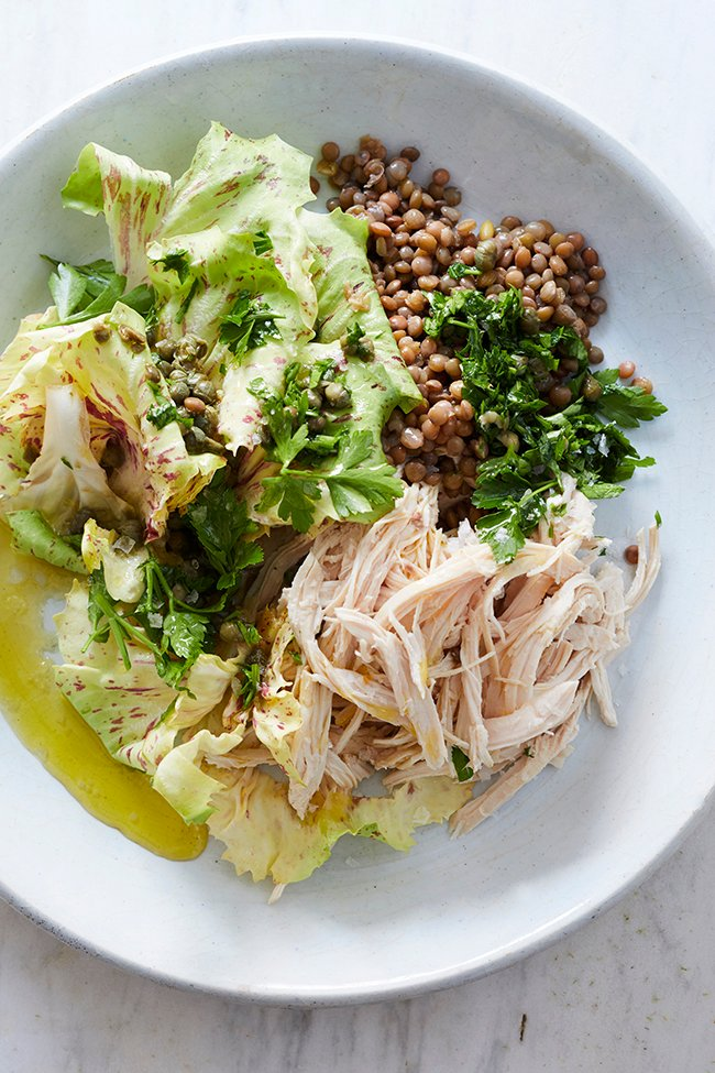 Spring Salad with Chicken and Lentils