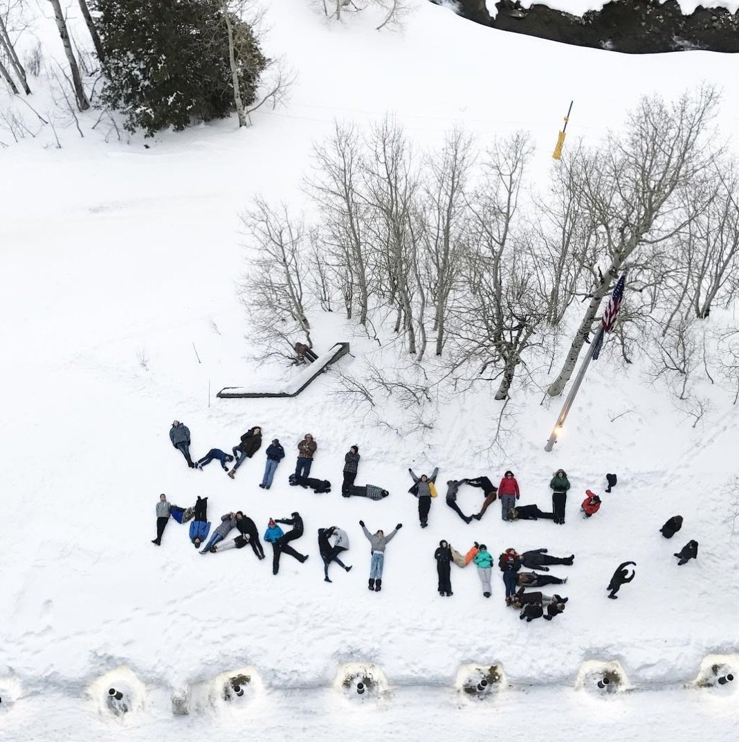 A Snowy Marriage Proposal