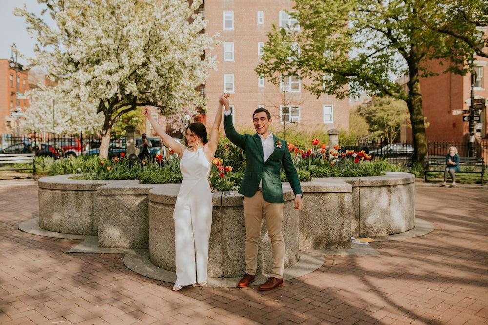 A (Socially Distanced) Wedding in Brooklyn