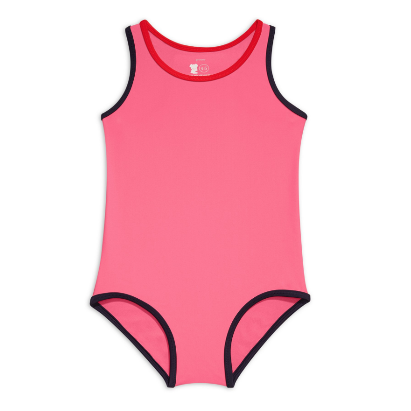 Primary Tipped One-Piece Swimsuit