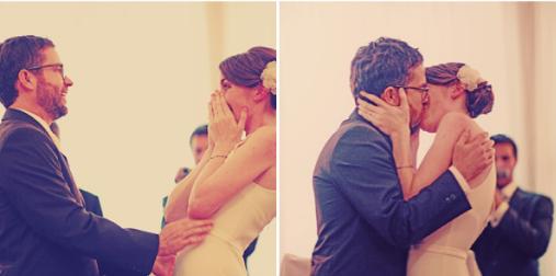 Joanna wedding kiss
