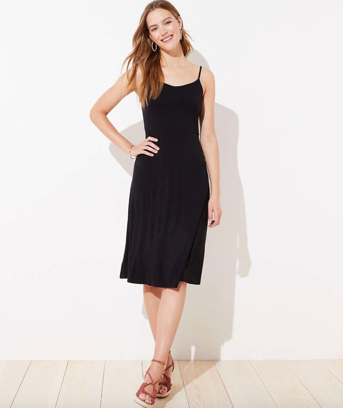 Loft Midi Black Dress