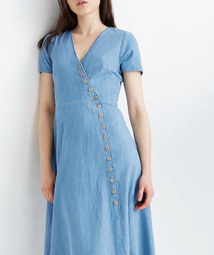 Button Wrap Dress