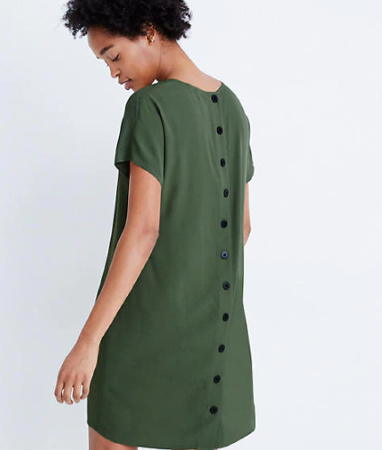 Button-Back Dress