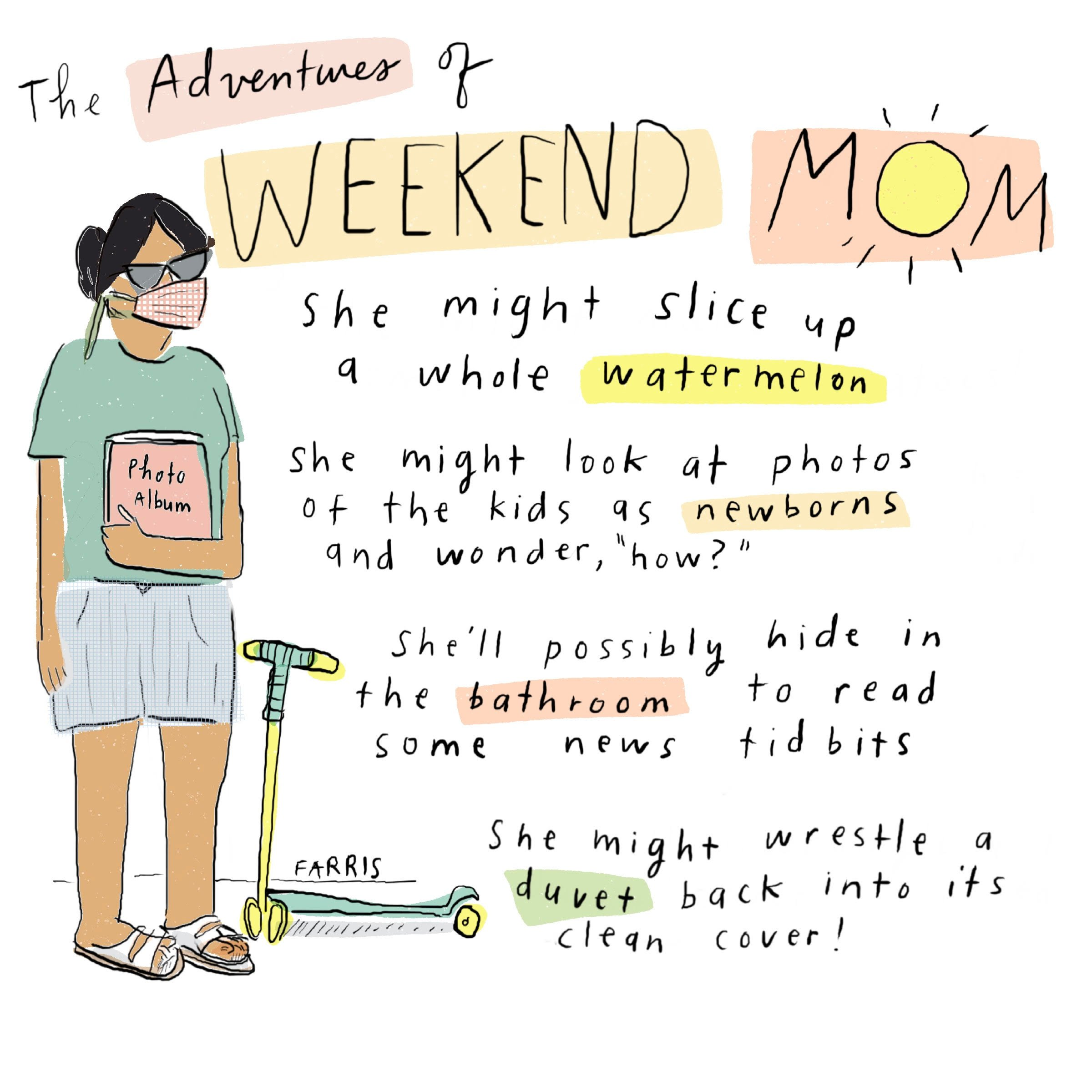 weekend mom comic by grace farris