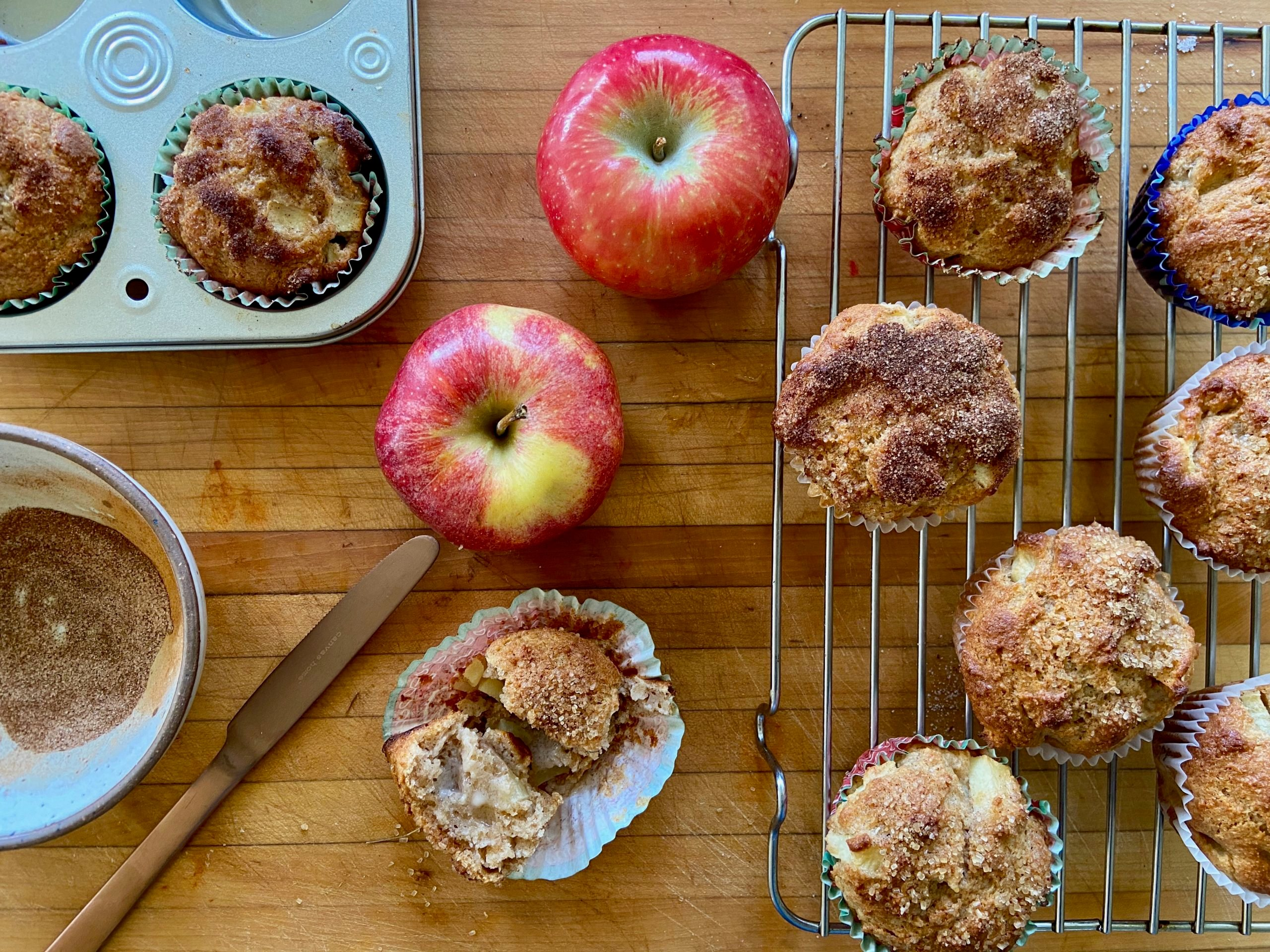 Cinnamon-Apple Spelt Muffins for Fall