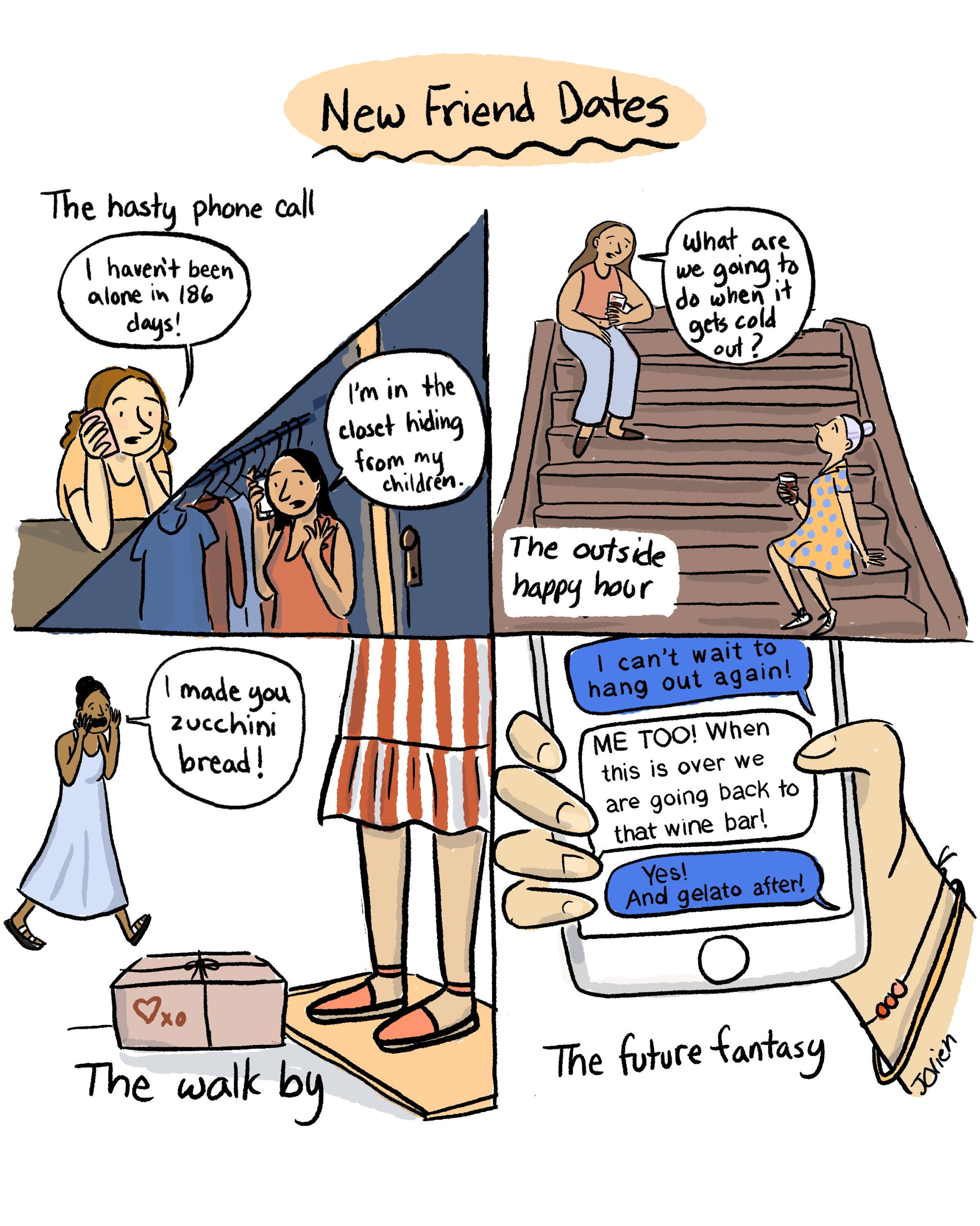 a friend comic by Jessica olien