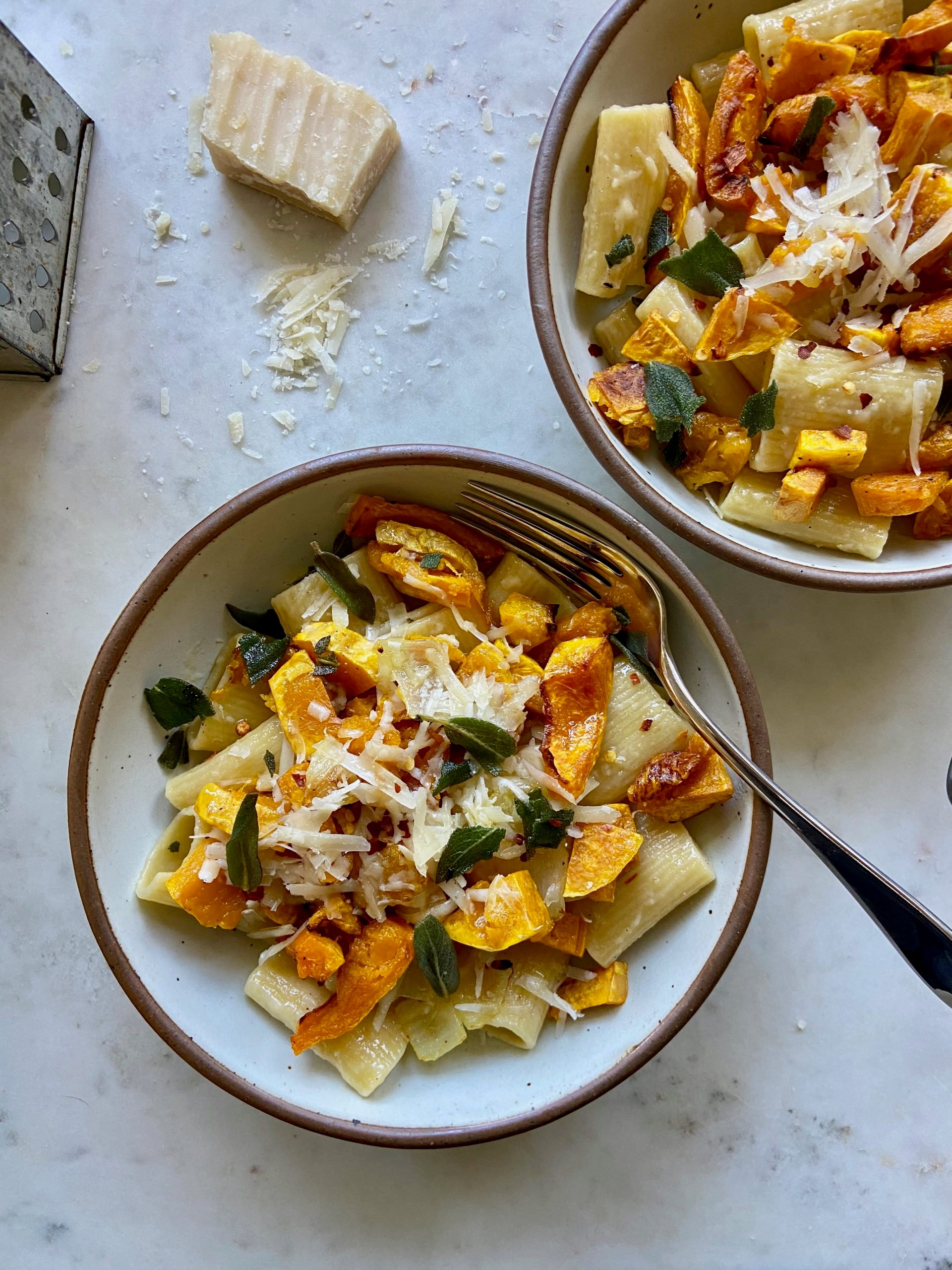 rigatoni with butternut squash and sage