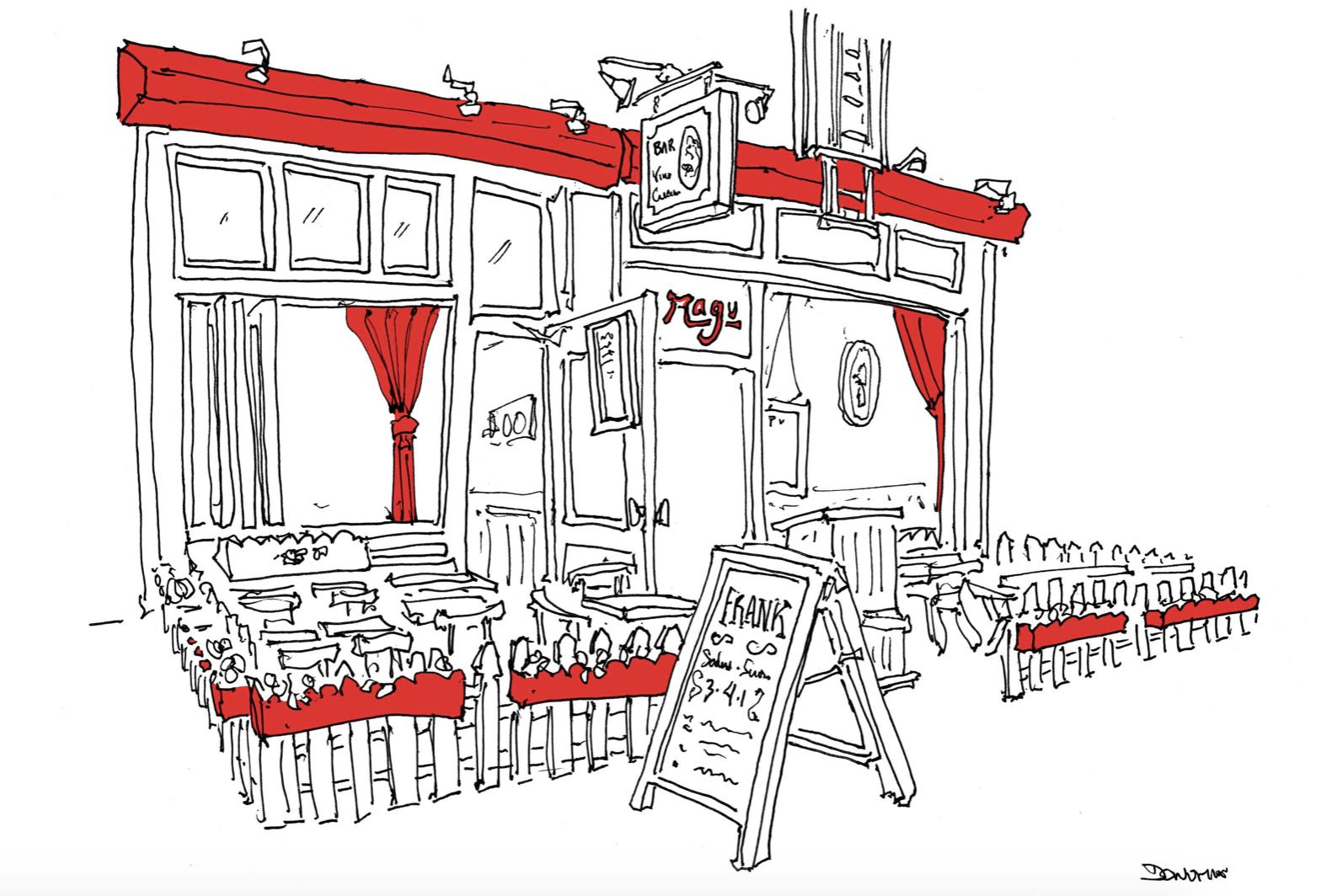 John Donahue restaurant prints