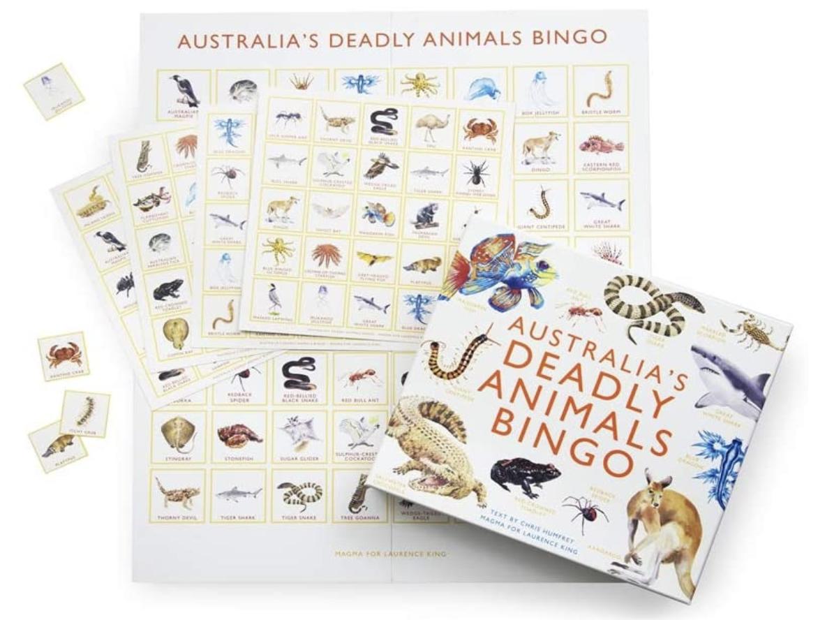 deadly animals bingo