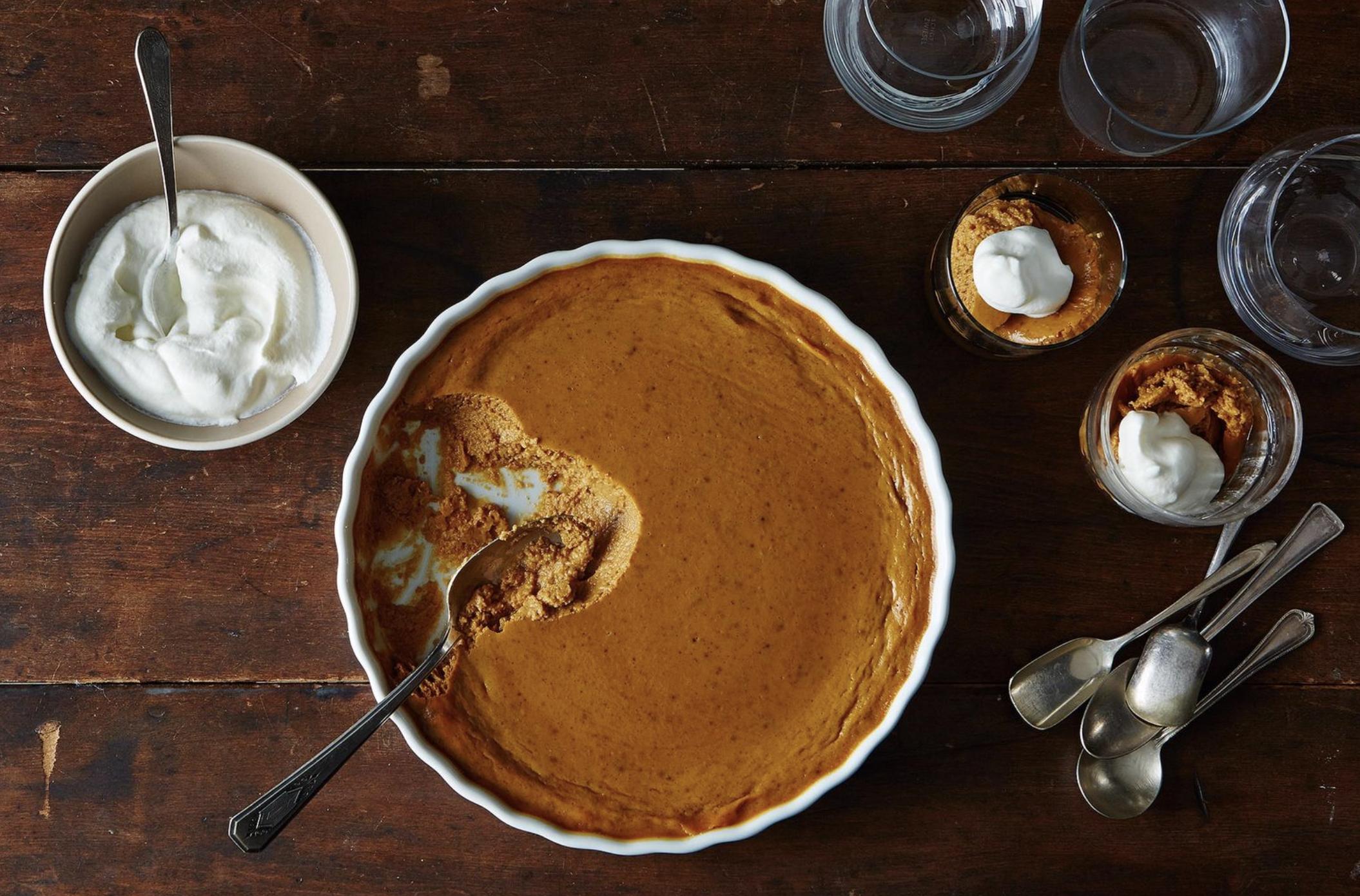 pumpkin pudding recipe on food52